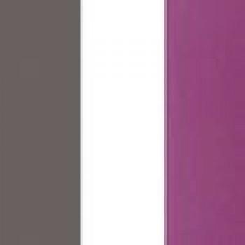 Szary mat/biały/fiolet
