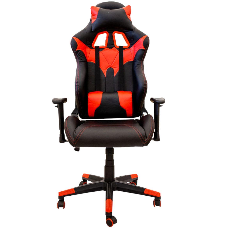 fotel cx1055h czerwonoczarne 3