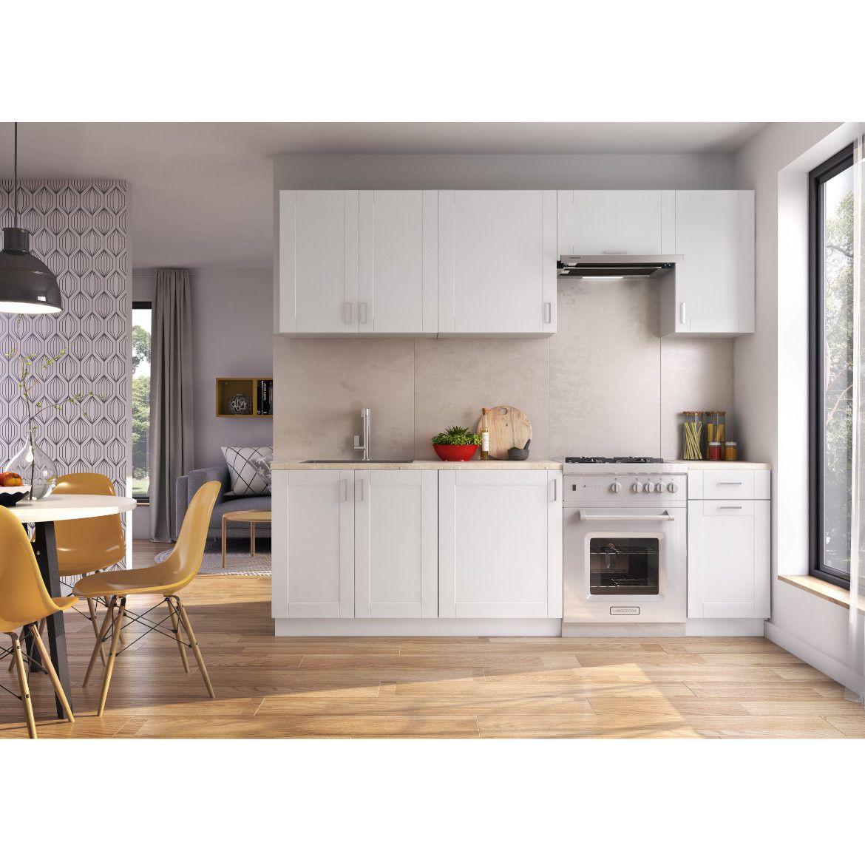 kuchnia milano bianco 240cm bez blatu 1