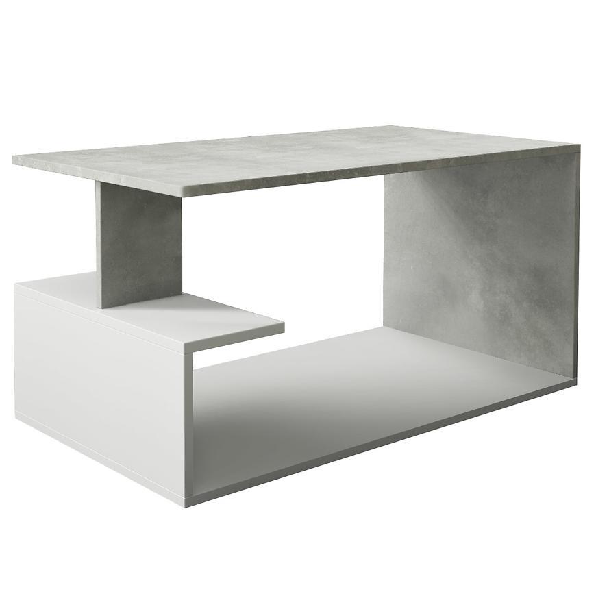 Ława Dante beton/biały