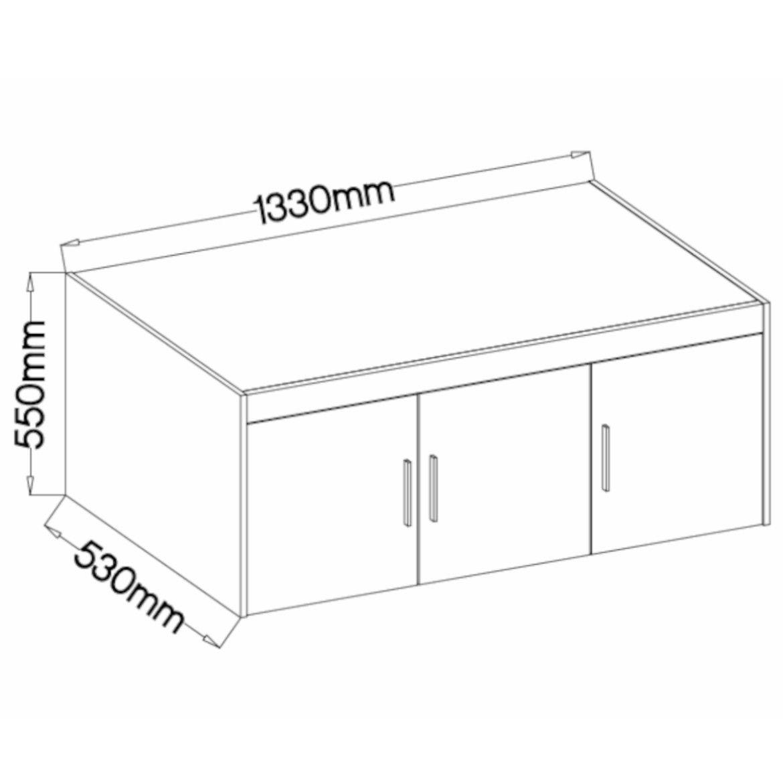 nadstawka do szafy elena 133 cm biala 2