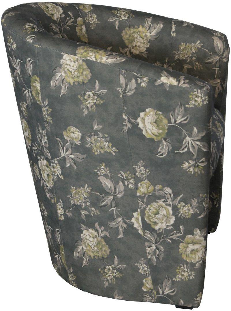 piccolo fotel tkanina kwiat b