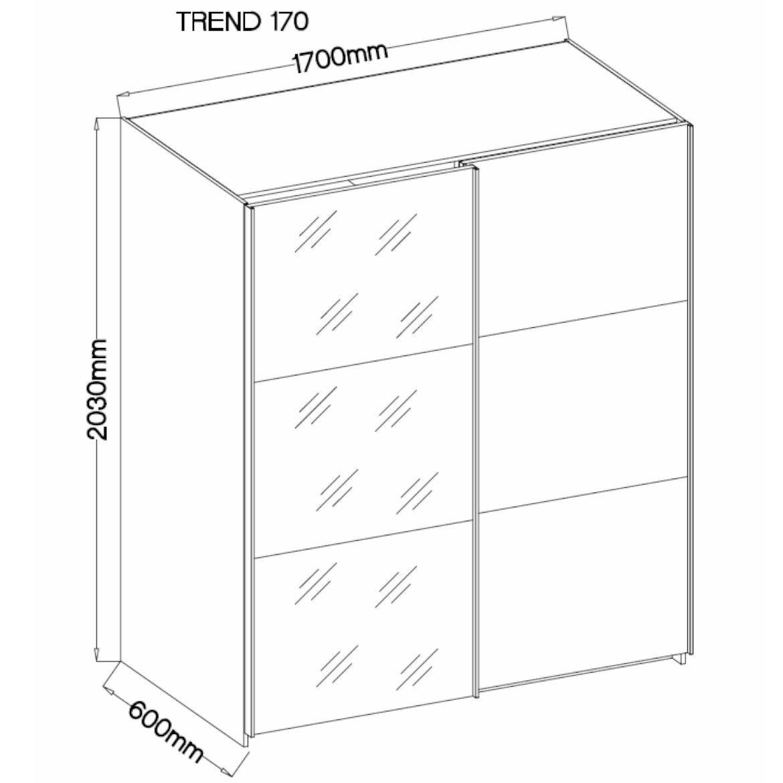 szafa trend 170 cm beton jasnylustro 2