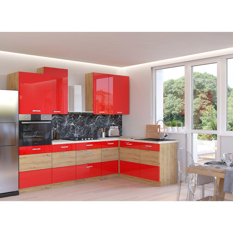 szafka kuchenna artisan czerwony polysk 80g 72 2f 2