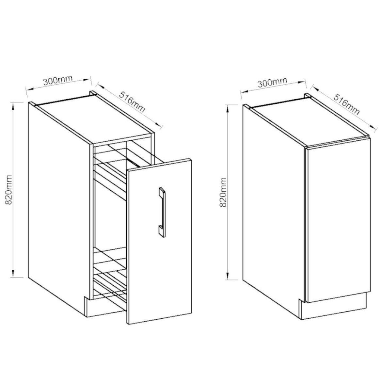 szafka kuchenna vigo bialy hg 30d cargo bb 4