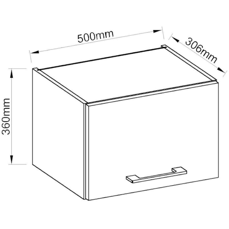 szafka kuchenna vigo bialy hg 50gu 36 1f