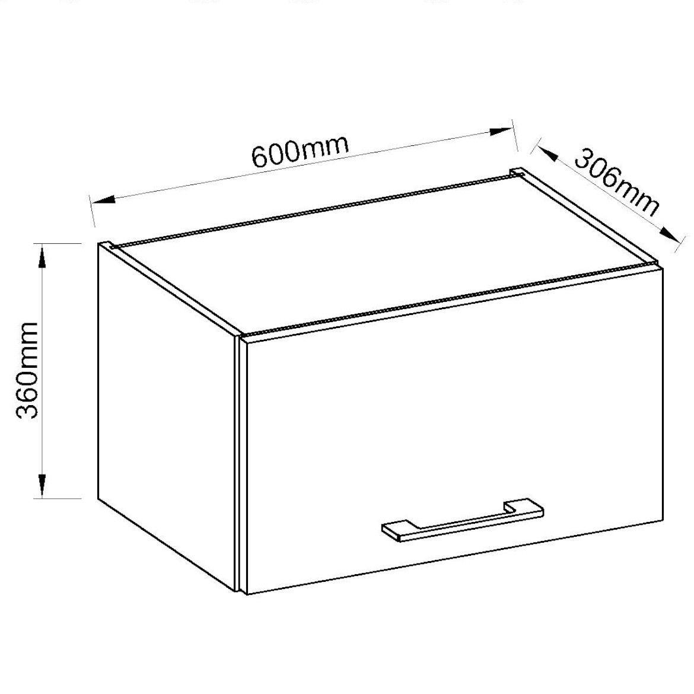 szafka kuchenna vigo bialy hg 60gu 36 1f 2