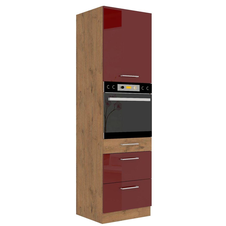 szafka kuchenna vigo bordowy hg 60dps 210 3s 1f 5