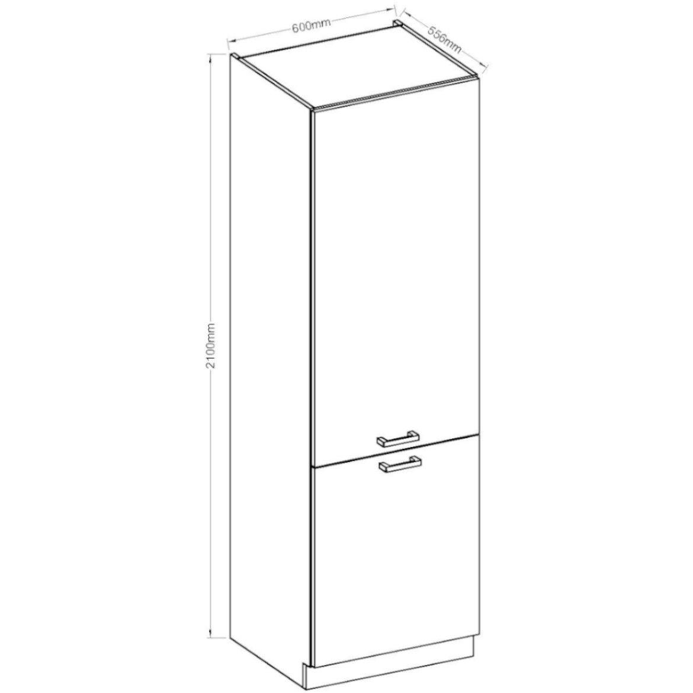 szafka kuchenna wiktoria chamonixlegno 60dk 210 2f