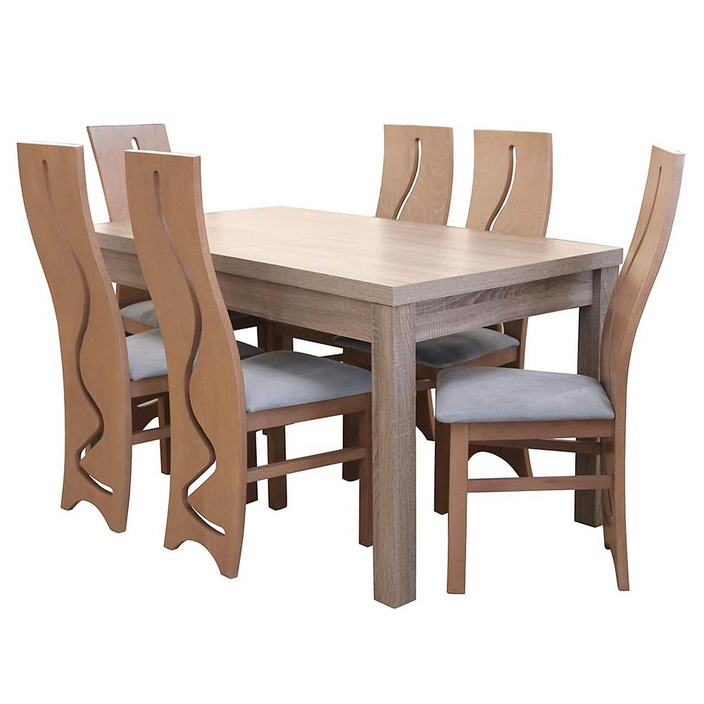 zestaw stol i krzesla adek 16 st674 ii kr804 dab trufla casablanca 2314 2