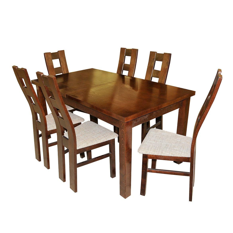 zestaw stol i krzesla oslo 16 st28 1609040f orzech w29 tap a7