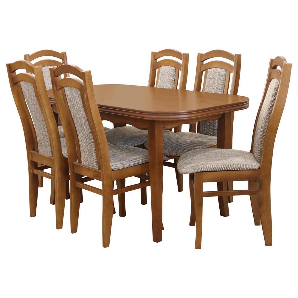 zestaw stol i krzesla pawel 16 st667 i rustikal kr755 br232 ekf cappuccino